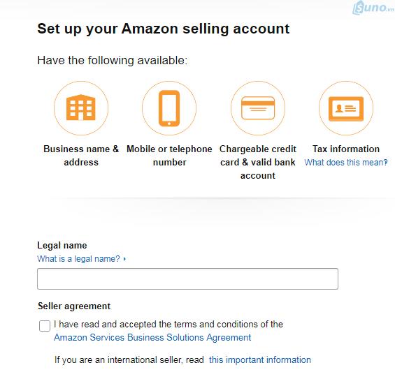 cách đăng ký bán hàng trên amazon
