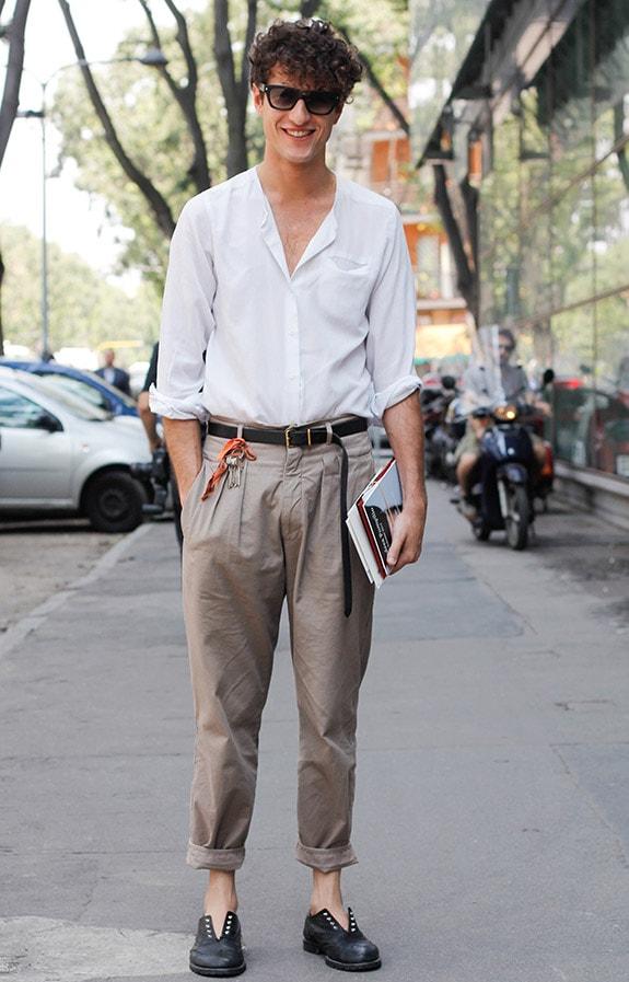 phong cách ăn mặc trẻ trung nam